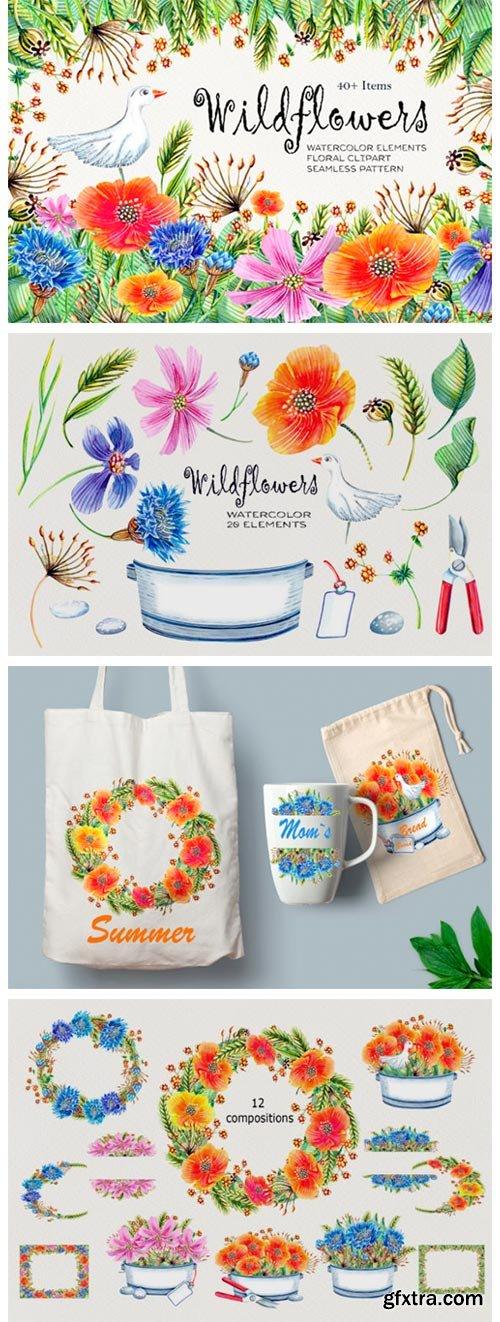 Watercolor Wildflowers 4155541