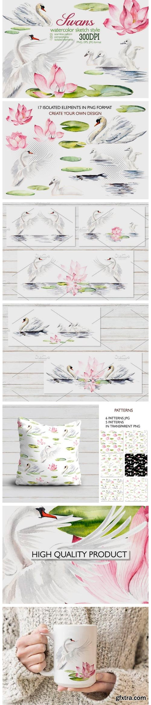 Watercolor Swans 4164470