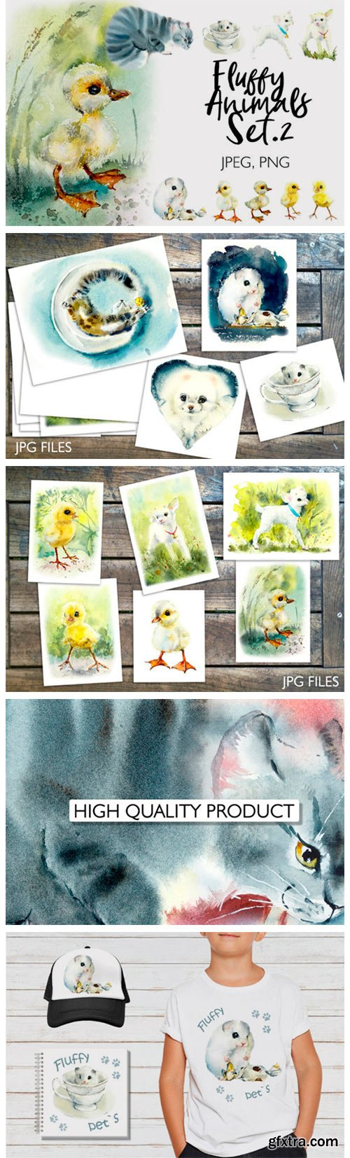 Watercolor Fluffy Pets 4165222