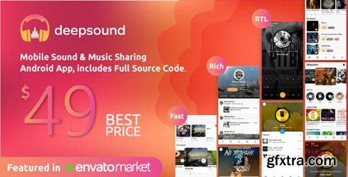 CodeCanyon - DeepSound Android v1.4 - Mobile Sound & Music Sharing Platform Mobile Android Application - 23697663