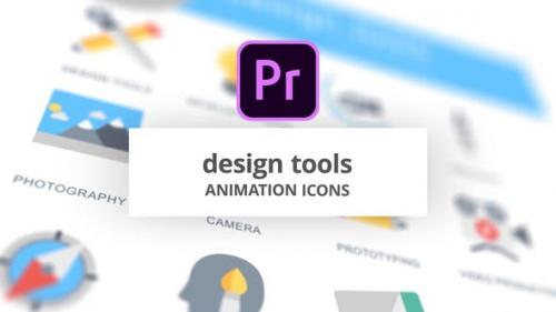 Videohive - Design Tools - Animation Icons (MOGRT)