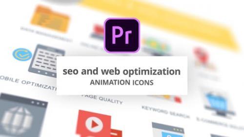 Videohive - SEO and Web Optimization - Animation Icons (MOGRT)