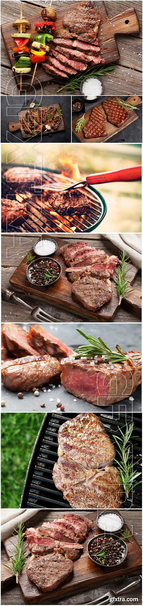 Meat, barbecue stock photo
