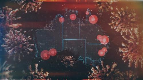 Videohive - Mapping Epidemic Outbreak in Australia 4K