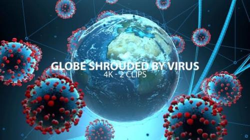 Videohive - Globe Shrouded With Virus