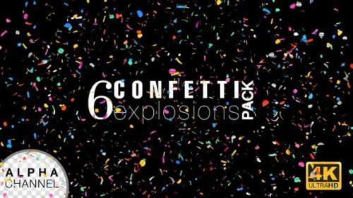 Videohive - Confetti Explosions