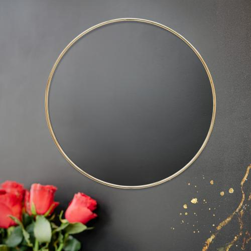 Golden floral frame on a black background - 1212803