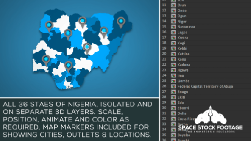 Videohive - Nigeria Map Kit