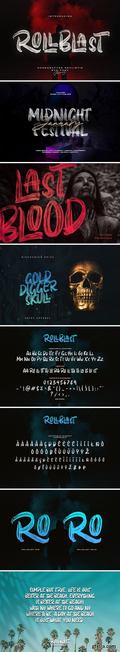CreativeMarket - ROLLBLAST - Display Font 4971523
