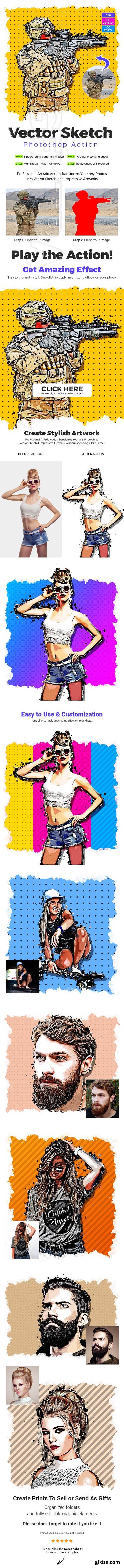 GraphicRiver - Vector Sketch Photoshop Action 26519972