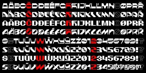 Deus Font Family - 8 Fonts