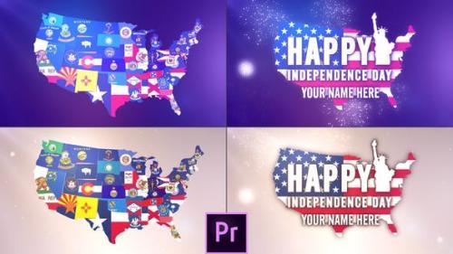 Videohive - USA States Flag Logo - Premiere Pro