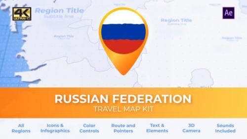 Videohive - Travel Map Russia - Russian Federation Map
