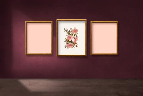 Frame mockups against a wall - 586061