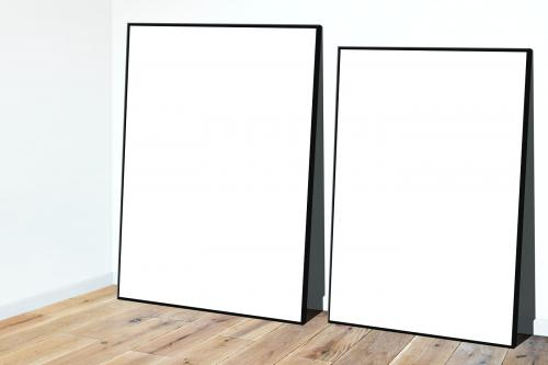 Frame mockups against a white wall - 586070