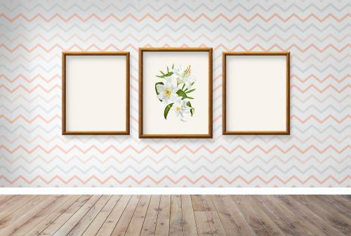 Frame mockups against a wall - 586077