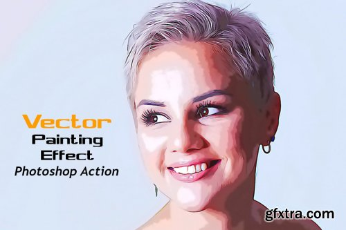 CreativeMarket - Vector Painting Effect Photoshop Act 4876102