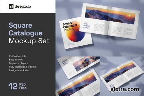 Square Catalogue Mockup Set