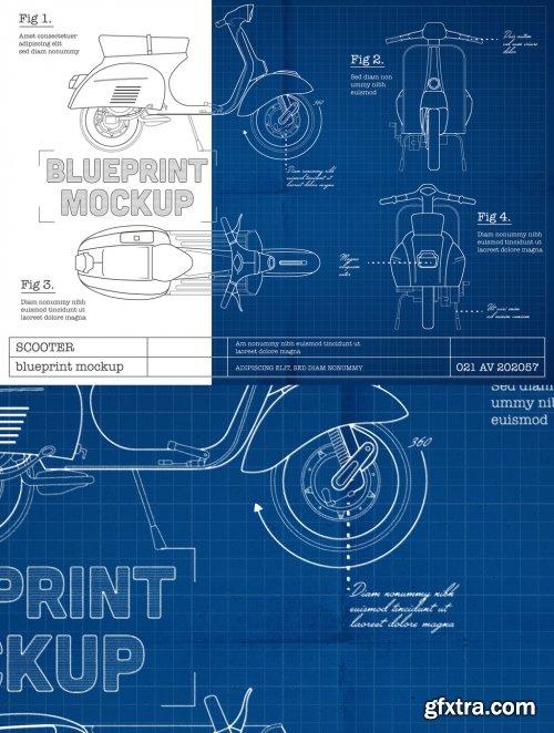 Blueprint Sketch Mockup 351323187