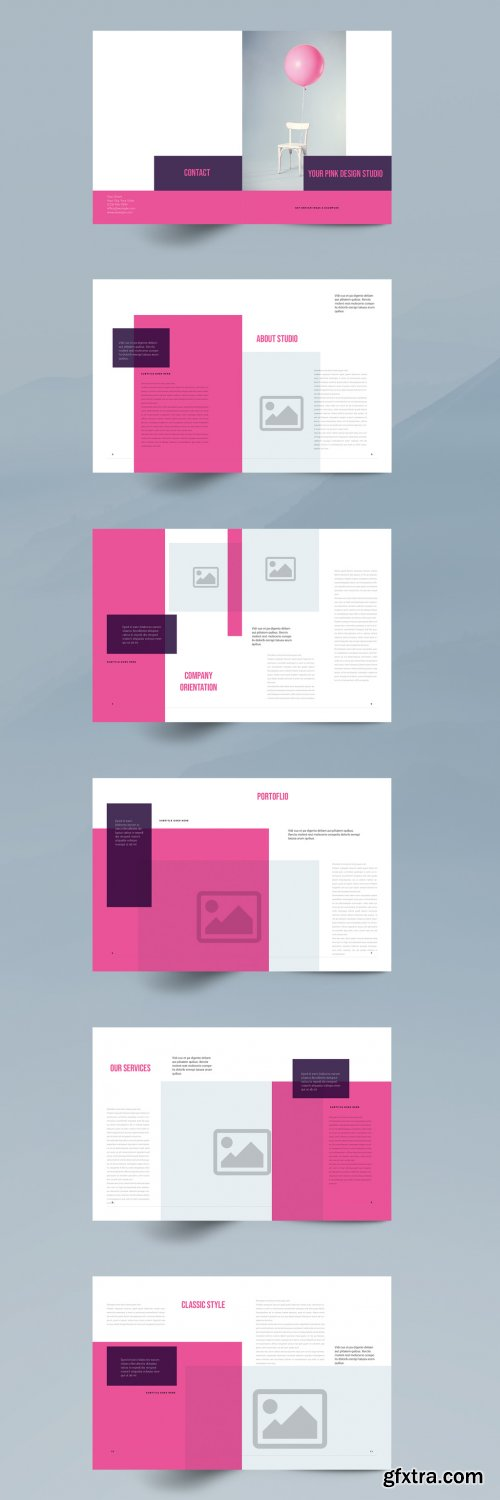 Pink Brochure Layout 351690355