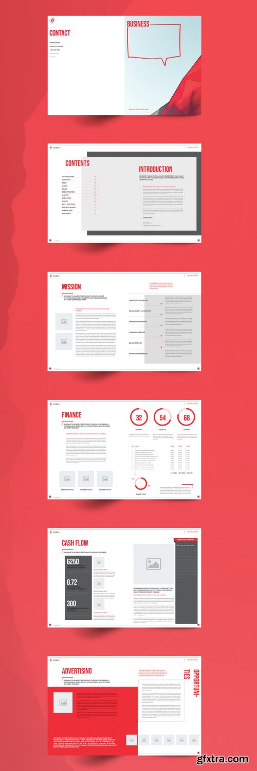 Red Business Brochure Layout 351688311