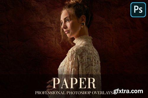 CreativeMarket - Paper Overlays Photoshop 4940116