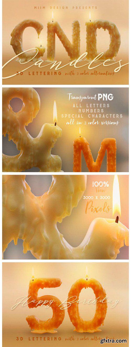 Candle Light – 3D Lettering 4241236