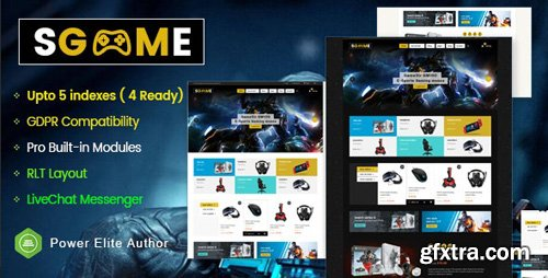 ThemeForest - SGame v1.0.1 - Responsive Accessories Store OpenCart Theme (Include 3 mobile layouts) - 25820374