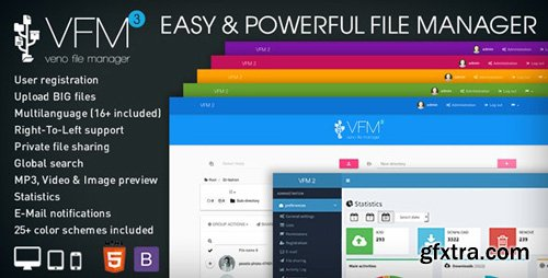 CodeCanyon - Veno File Manager v3.6.1 - host and share files - 6114247