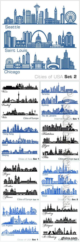Cities architecture vector illustration
