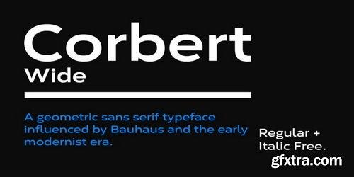 Corbert Wide Font Family