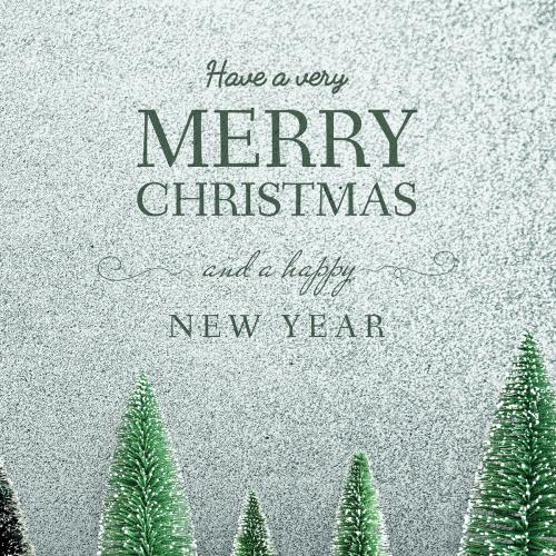 Merry Christmas and Happy New Year greeting card mockup - 519982