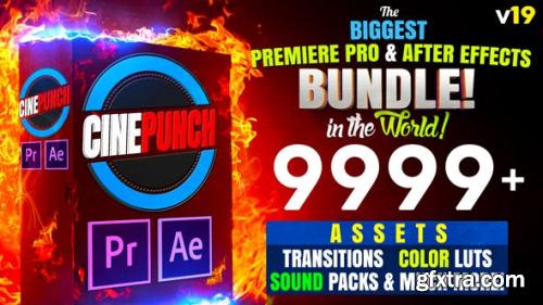 Videohive CINEPUNCH (BUNDLE) - Premiere Pro Transitions  I  Color LUTs  I  SFX  - 18 PACKS - 9999+ Assets V19 20601772