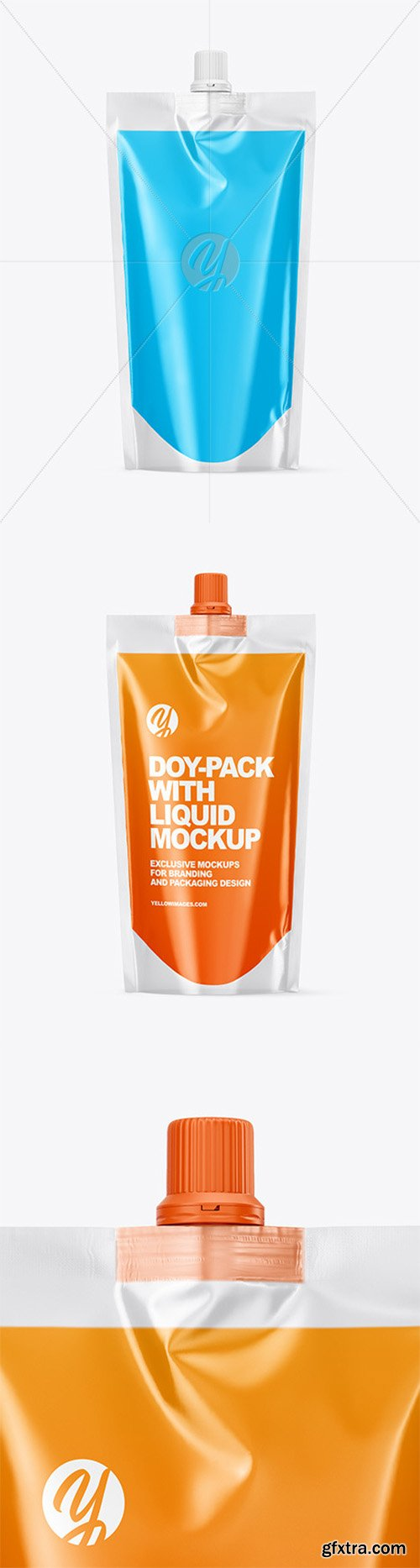 Doy-Pack with Liquid Mockup 61330