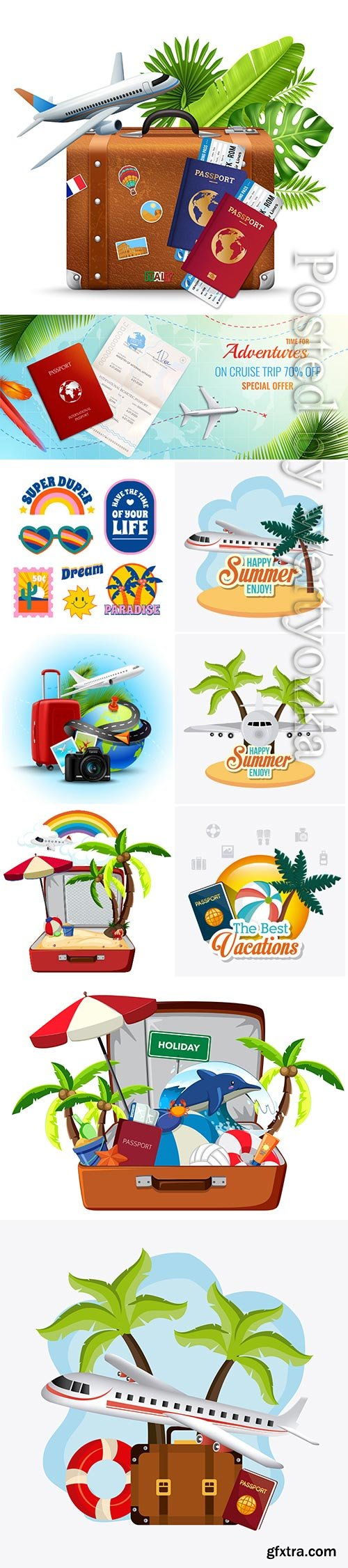 Travel vector collection illustration