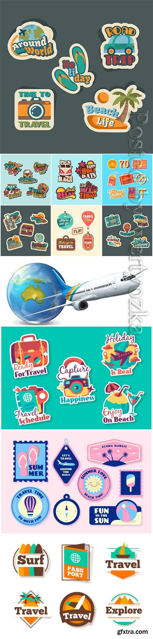 Vector travel collection illustration