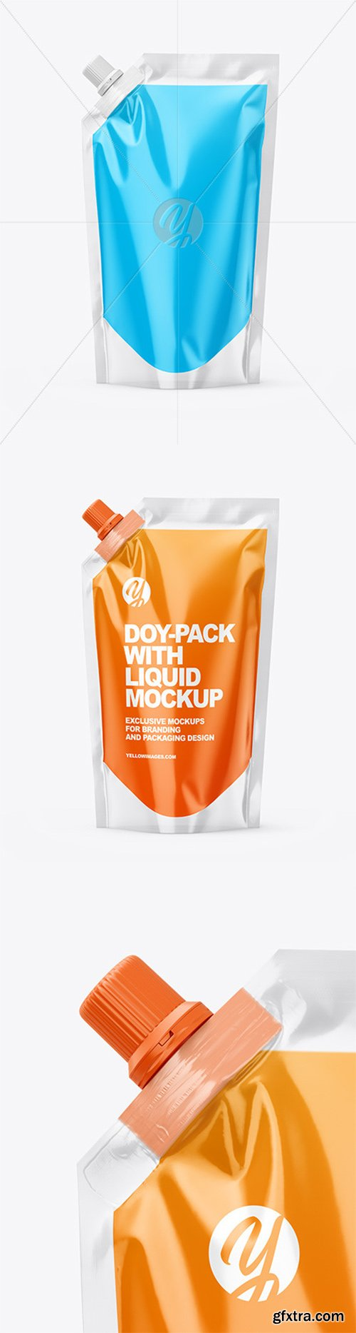 Doy-Pack with Liquid Mockup 61485