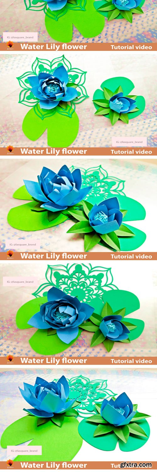 Water Lily Paper Flowers Template 4334116