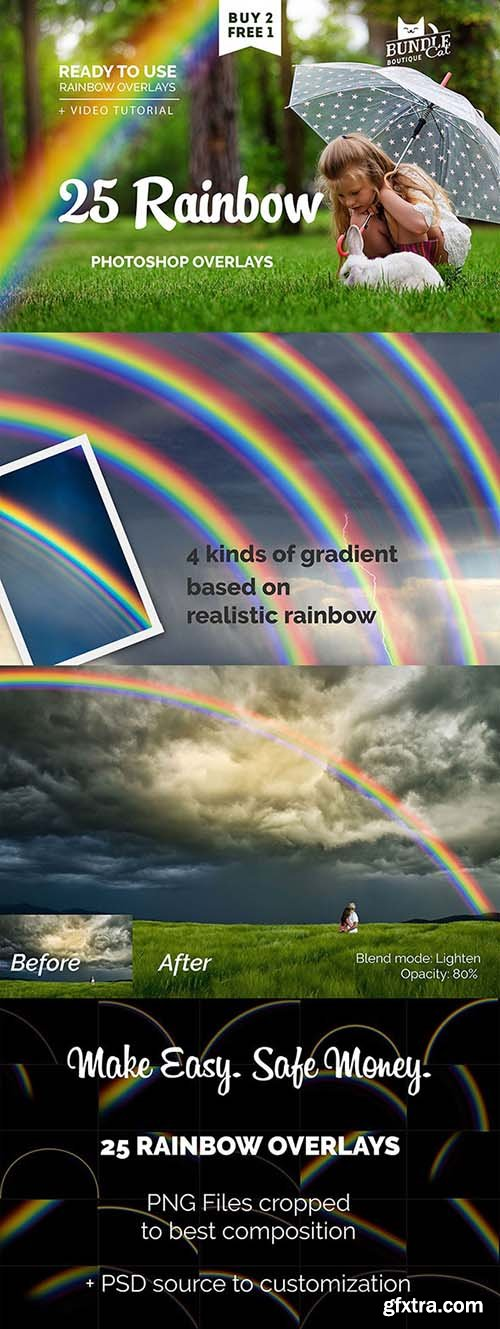 GraphicRiver - 25 Rainbow Photo Overlays 26693327