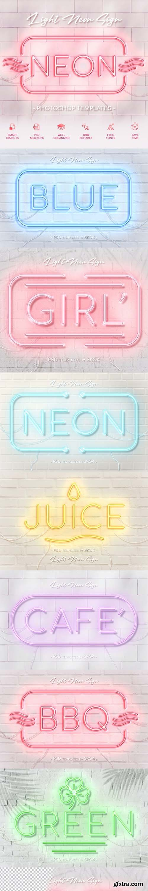 GraphicRiver - Light Neon Wall Sign 26909218