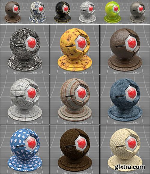 Redshift C4D Material Pack 1