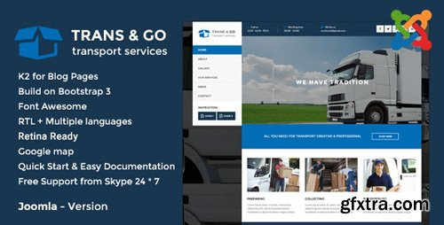 ThemeForest - TransGo v2.0 - Transport & Logistics Joomla Template (Update: 11 April 19) - 14835915