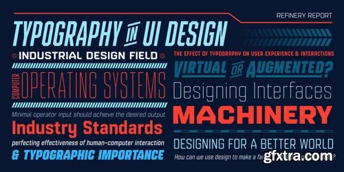 Refinery Font Family