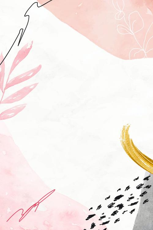 Pink watercolor floral background vector - 2090492