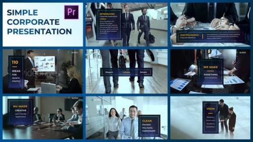 Videohive - Simple Corporate Presentation – Premiere Pro