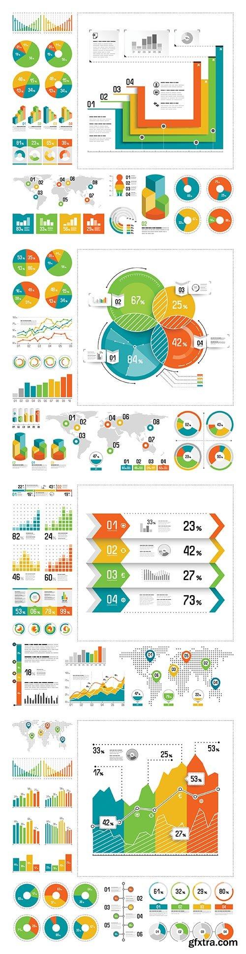 Infographic vector elements set