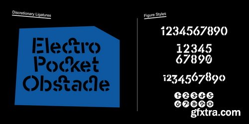 -OC Format Stencil Font Family