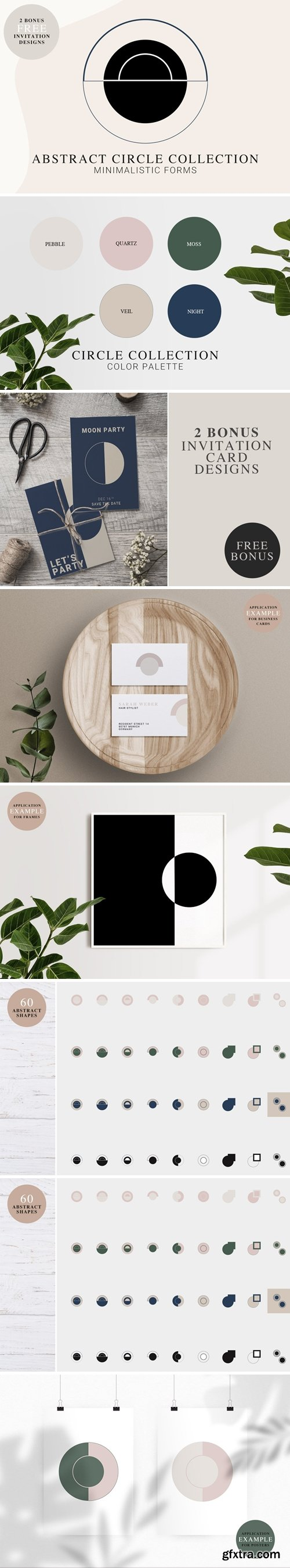 CreativeMarket - Abstract CIRCLE Shapes Kit 4964129