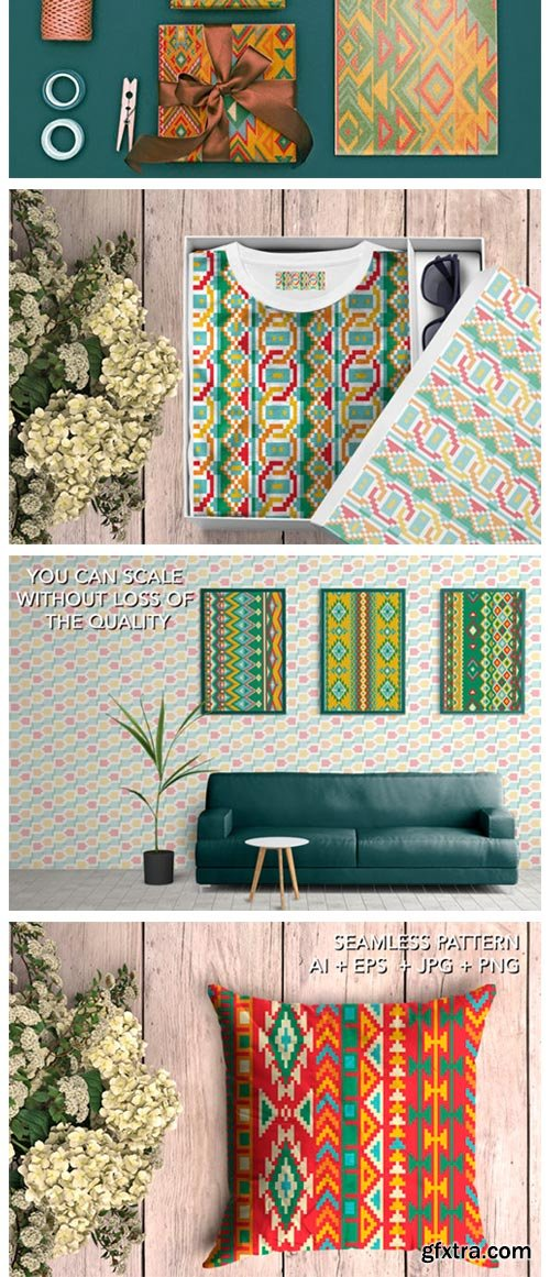 16 Ethnic Seamless Patterns - Set 1 4380190