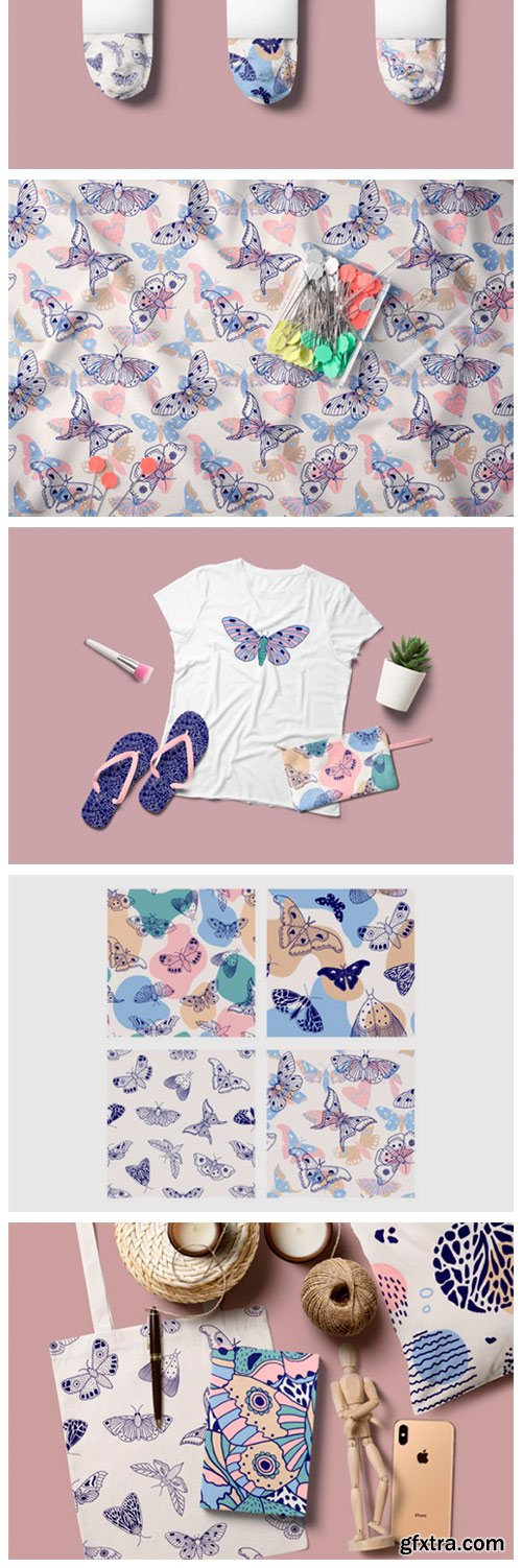 Butterflies.Vector Patterns. 439523